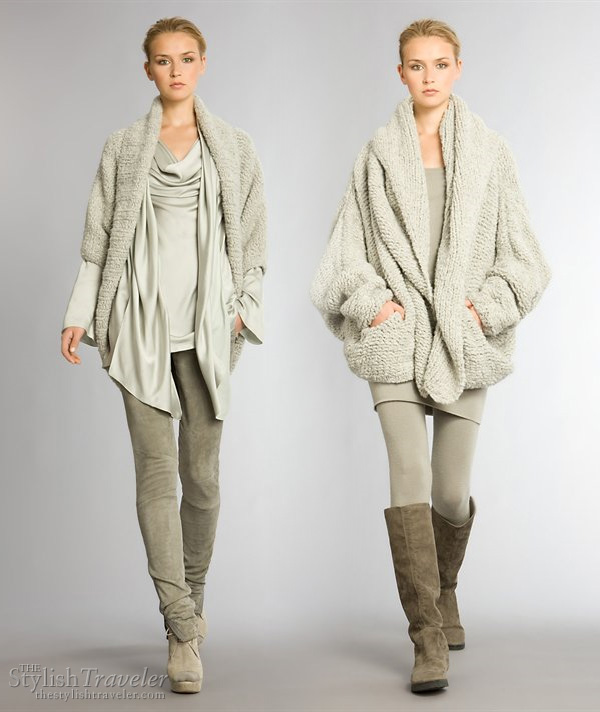 Donna Karan Resort 2010 collection - Aspen Glam and Cashmere stylish ski or winter wear layering options