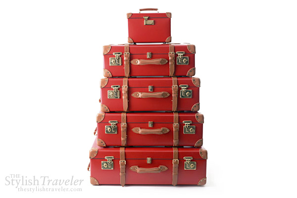 Globe Trotter Centenery luxury luggage -red  travel case trunk