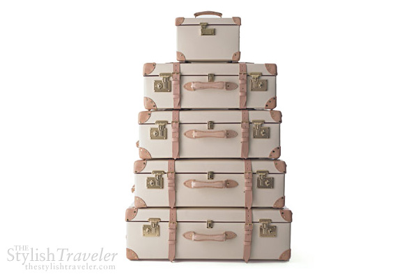 Globe Trotter Safari luxury luggage - beige and brown travel case trunk