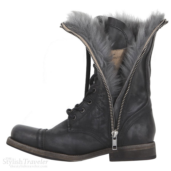 AllSaints Shearling Military Boot