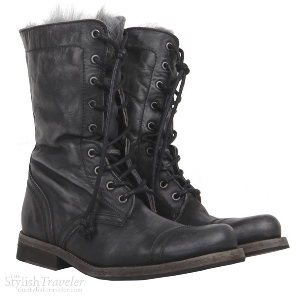 AllSaints Shearling Military Boots
