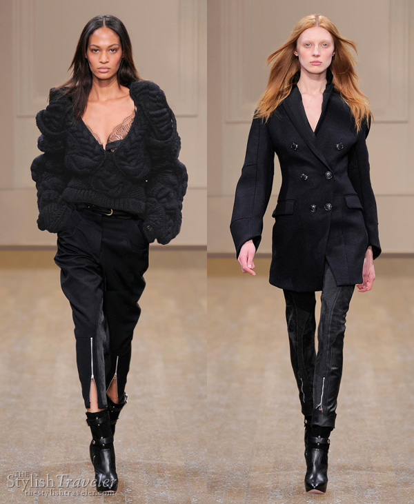 Julien Macdonald Fall/Winter 2010 black knit sweater and coat