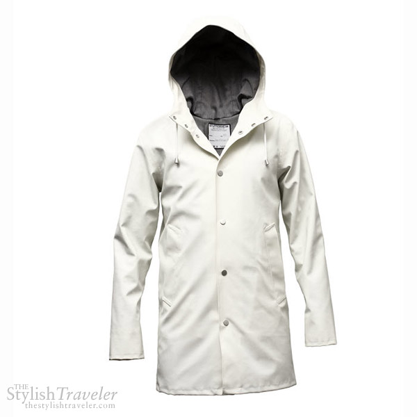 Stutterheim Raincoats Arlhoma Vit - white classic Swedish rain coat