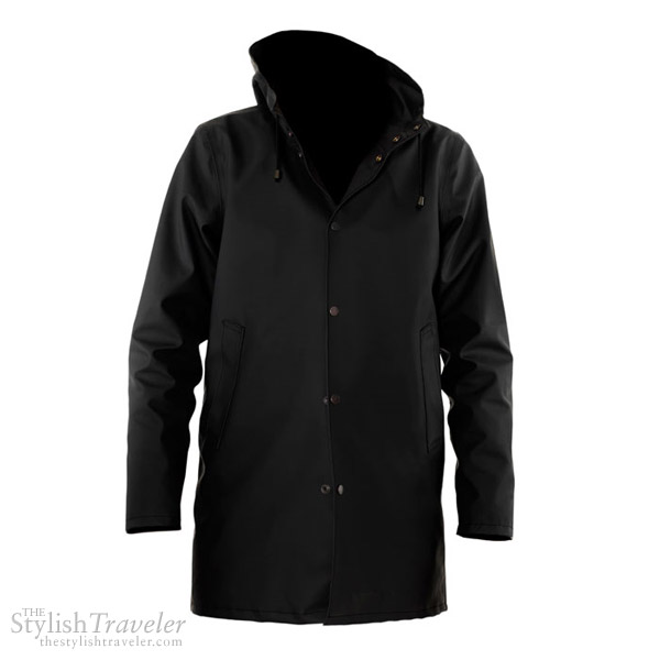 Stutterheim Raincoats Arlhoma Svart - black classic Swedish rain coat