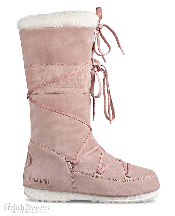Tecnica Moon Boot Butter Italian suede Pink