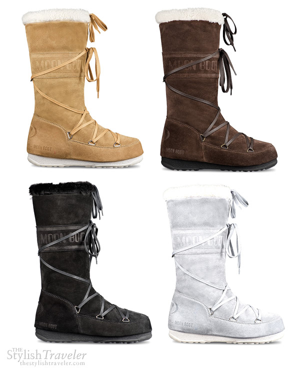 Tecnica Moon Boots Butter - buttery Italian suede moon boot