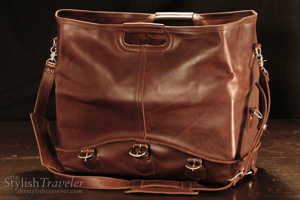 Waterbag by Saddleback Leather Company, convertible water and dust proof travel carrier, shown as large tote
