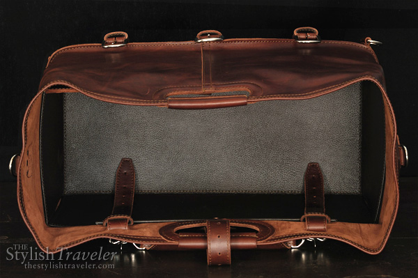 Saddleback Leather Company - The Waterbag and other travel cases and accesories. Showing insert of the Water Bag.