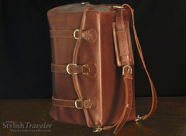 Waterbag leather backpack by Saddleback Leather Company - this bags converts from a duffel to a backpack quickly