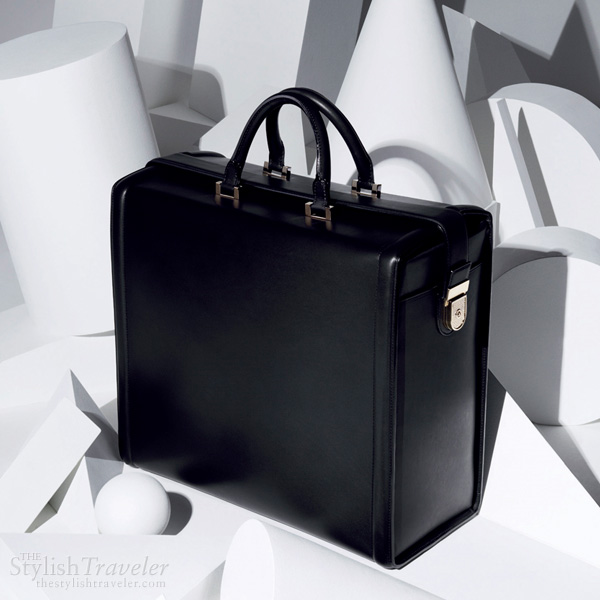 Victoria Beckham Spring/Summer 2011 collection travel bag - Black shiny calf travel bag with pale gold hardware, nappa lined interior and french binding detail.