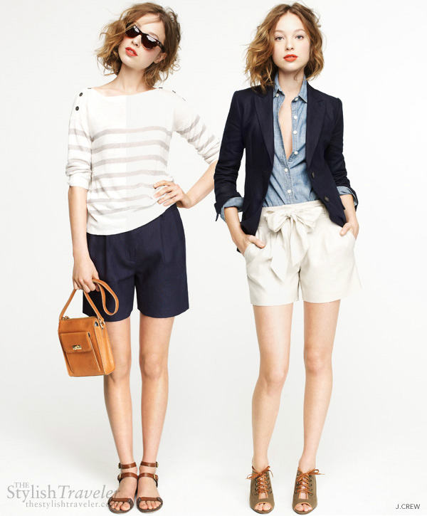 jcrew smart shorts go from casual to chic - pack light tips for summer