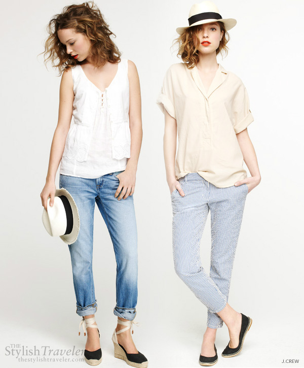 summer travel style - j.crew boyfriend cut jeans and pants for relaxed casual style