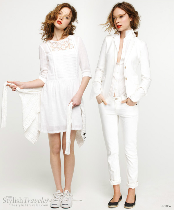 summer travel white - the best color to wear in the heat